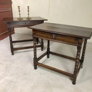 A Rare Pair Of Late 17th Century Side Tables
