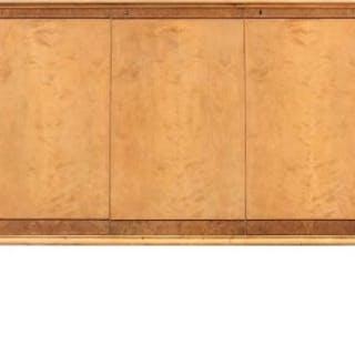 A Swedish Art Deco satin birch sideboard