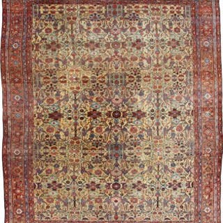 Antique Fereghan carpet, Persian
