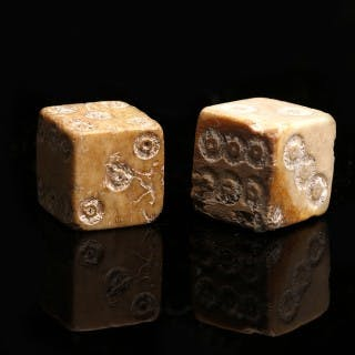 Roman Pair of Bone Dice