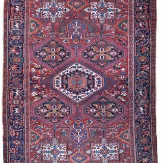 Antique Heriz carpet, 'Karaja' design, Persia