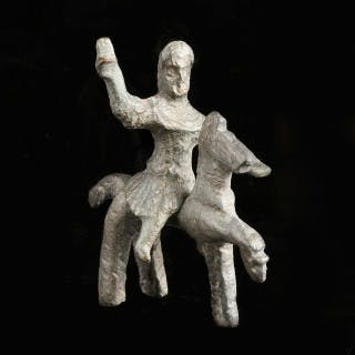 Celtic Rider and Horse Statuette