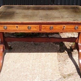 Early 19th Century Regency Mahogany Library Table / Writing Table