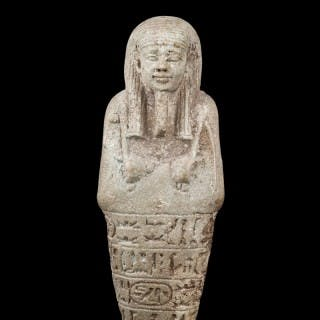 Egyptian Faience Shabti for the Overseer of the Royal Fleet under