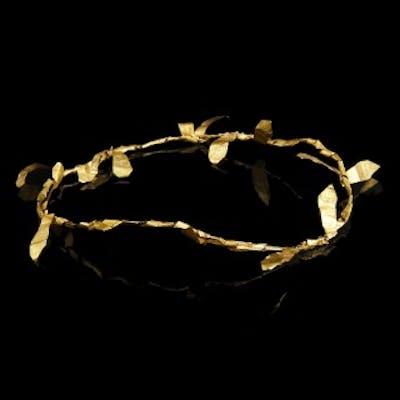 Greek-Hellenistic Gold Diadem with Laurel Leaves