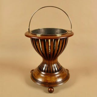 A Dutch Very Decorative and Useful Mahogany and Brass Jardinière.