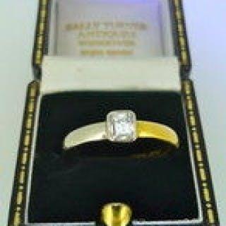 0.45 carat Natural Diamond Solitaire Ring.