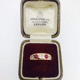Antique Ruby and Diamond Ring.