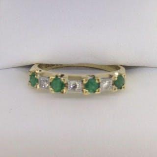 Emerald and Diamond Eternity Ring.