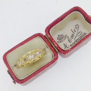 Victorian Diamond and 18ct gold Ring.