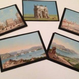 Five Neapolitan Gouaches