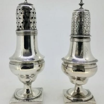 Silver Peppers/Spice Pots