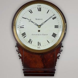 MORICE. AN EXCEPTIONAL LATE GEORGE III PERIOD WALL CLOCK , FENCHURCH ST, LONDON