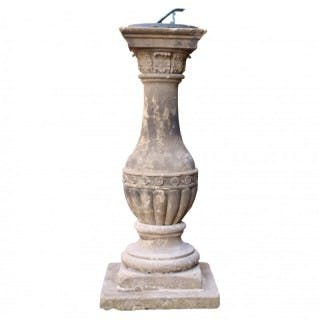 Georgian Carved Stone Baluster Sundial