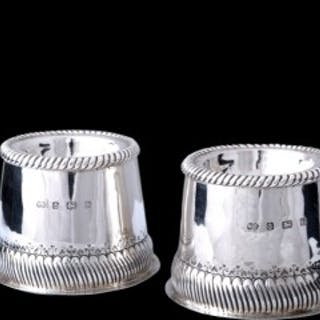 A Duchess of Sutherland Cripples Guild pair of silver salts