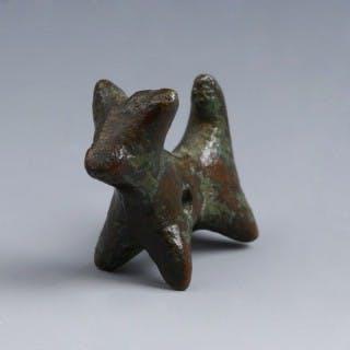 Luristan Bronze Dog Figurine