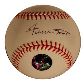 Willie Mays Signed OML Baseball -- With Mays' ''Say Hey'' Hologram