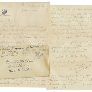 Rene Gagnon Autograph Letter Signed From WWII -- ''...I got clipped