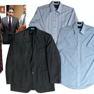 Steve Carell Screen-Worn Business Suit Jacket, Shirts & Tie From ''The