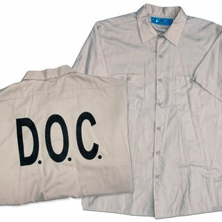Christian Bale Screen-Worn Hero Shirt From the Prison Scenes in ''Out