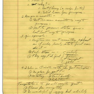 Richard Nixon Handwritten Notes From 1958 -- Likely Notes From a Speech
