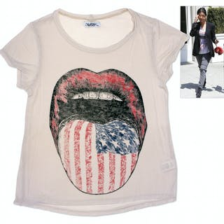 Kourtney Kardashian Owned American Flag Tongue Shirt