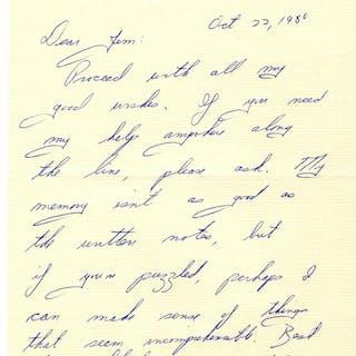 'Catch-22'' Author Joseph Heller Autograph Letter Signed -- ''...My