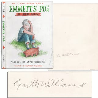 Garth Williams Hand-Drawing for the Cover Art of ''Emmett's Pig''