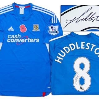 Tom Huddlestone Match-Worn Hull City Football Shirt Signed