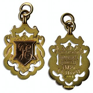 19th Century Football Gold Medal From Aston Villa's Win at the 1894-95