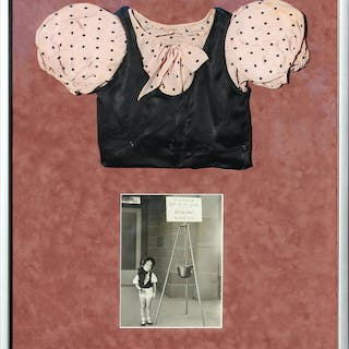 Shirley Temple Screen-Worn Blouse From 1933 Film ''The Kid's Last