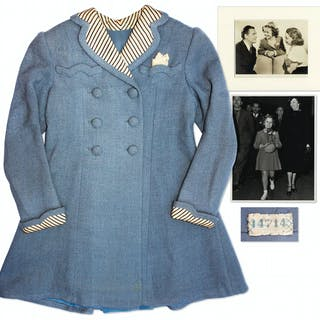 Shirley Temple Screen-Worn Coat From 1938 Film ''Just Around the Corner''