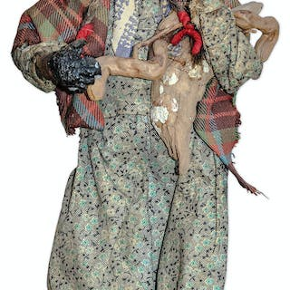 Shirley Temple Owned Dried Apple Woman Doll