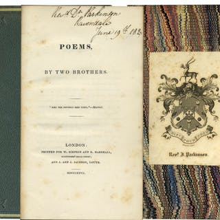 Lord Alfred Tennyson's ''Poems by Two Brothers'' First Edition From 1827