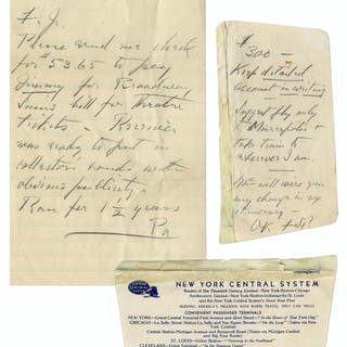 Franklin D. Roosevelt Autograph Note Signed ''FDR'' & Autograph Letter