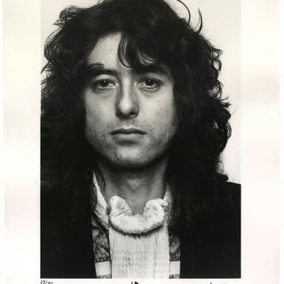 Jimmy Page Signed 16'' x 20'' Photo -- One of Only 50 Signed by Page