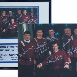 Star Trek Cast Signed Photo -- Limited Edition Signed by All 7 Crew