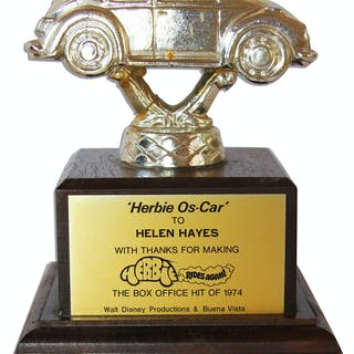 Unique 1974 Disney Trophy Bestowed Upon Actress Helen Hayes for Her