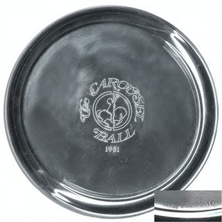 Lucille Ball Personally Owned Pewter Plate by Cartier in Original