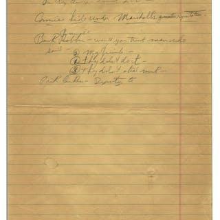 Fascinating Richard Nixon Handwritten Notes Attacking Communism --