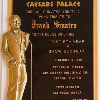 Frank Sinatra Custom Invitation to Celebrate His ''Fortieth Year in