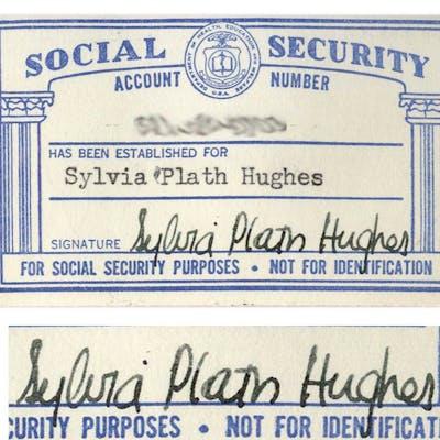 Sylvia Plath S Signed Social Security Card Barnebys