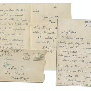 WWII Hero Rene Gagnon Autograph Letter Signed -- ''...about my furlough...just