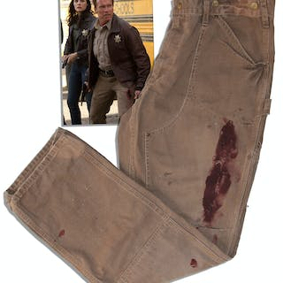 Arnold Schwarzenegger Screen-Worn Hero Jeans From ''The Last Stand''