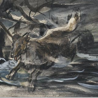 Rare 1940s ''Lassie'' Storyboard -- Painting Depicts the Most Famous