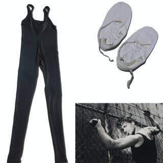 Patrick Swayze Personally Owned and Worn Dance Unitard & Shoes --