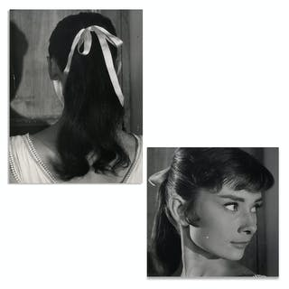 Audrey Hepburn Personally Owned Pair of Photos From ''War and Peace''