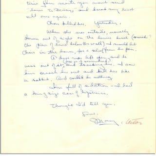 Mary Astor Autograph Letter Signed -- ''...I'm full of sedation. I