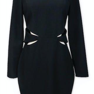 Kim Kardashian Owned Black Velvet Dress