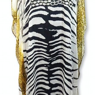 Khloe Kardashian Owned Beaded Animal Print Dress